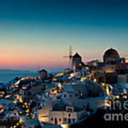 Sunset At Oia Poster