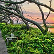 Sunset At Pea Island Wildlife Refuge Outer Banks I Poster