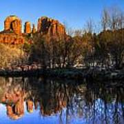 Sunset At Red Rocks Crossing In Sedona Az Poster by Teri Virbickis