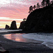 Sunset At Rialto Beach 1 Poster