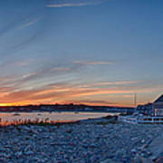 Sunset At Scituate Light Poster