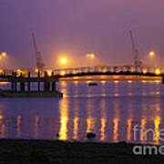 Sunset At Southampton Docks Poster by Terri Waters