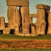 Sunset At Stonehenge 2 Poster by Deborah Smolinske