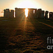 Sunset At Stonehenge 4 Poster by Deborah Smolinske