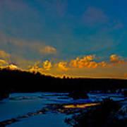 Sunset At The Green Bridge Poster