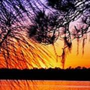 Sunset At The Lake 2 Poster by Will Boutin Photos