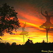 Sunset Ballerina Poster