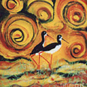 Sunset Ballet Poster by Anna Skaradzinska