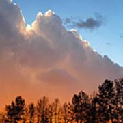 Sunset Between Storm Cells Poster