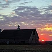 Sunset By The Barn 2 Poster