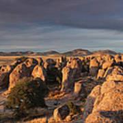 Sunset City Of Rocks Poster