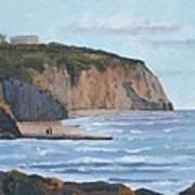 Sunset Cliffs Ca Poster by Raymond Kaler