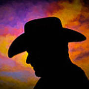 Sunset Cowboy Poster