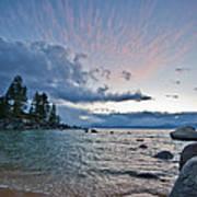 Sunset Drama At Tahoe Poster