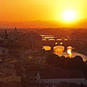 Sunset Florence Poster