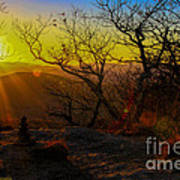 Sunset From Blood Mountain Poster