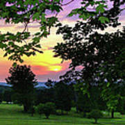 Sunset Golf Course Poster