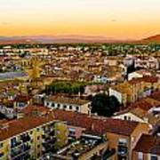 Sunset In Cavaillon Poster