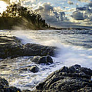 Big Island - Sunset In Hilo Poster