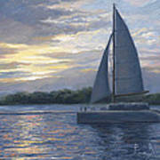 Sunset In Key West Poster by Lucie Bilodeau