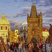 Sunset In Prague Poster by Raffi  Bashlian