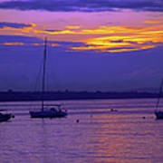 Sunset In Skerries Harbor Poster