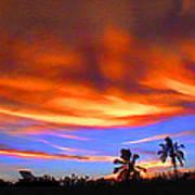 Sunset Key Largo Filtered Poster