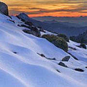 Sunset Light On The Snow Poster
