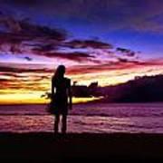 Sunset Maui Style Poster