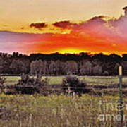 Sunset Meadow Poster