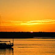 Sunset Morro Bay California Poster