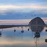 Sunset Morro Bay Poster