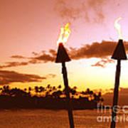 Sunset Napili Maui Hawaii Poster