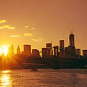 Sunset - New York City Poster
