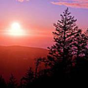 Sunset Off Mt Erie Washington Art Prints Poster