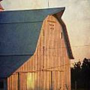 Sunset On A Barn Poster