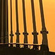 Sunset On A Bridge Poster