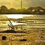 Sunset On A Sandy Beach Poster