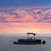 Sunset On Grand Beach Poster