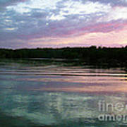 Sunset On Gull Lake Poster
