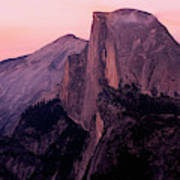 Sunset On Half Dome As Seen Poster