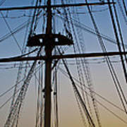 Sunset On Hms Warrior Poster