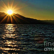 Sunset On Lake Tahoe By Diana Sainz Poster