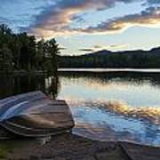 Sunset On Long Pond Poster