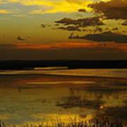 Sunset On Medicine Lake Poster