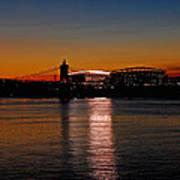 Sunset On Paul Brown Stadium Poster