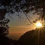 Sunset On San Jacinto Poster