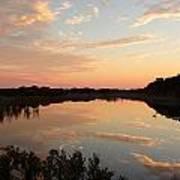 Sunset On Sandpiper Pond Poster