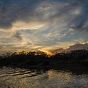 Sunset On The Amazon 1 Poster