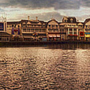 Sunset On The Boardwalk Walt Disney World Poster